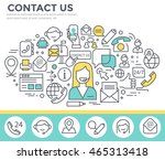 contact us concept illustration ... | Shutterstock .eps vector #465313418