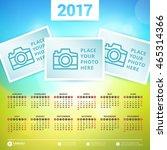 calendar for 2017 year. vector...   Shutterstock .eps vector #465314366
