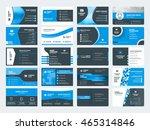 set of modern creative business ... | Shutterstock .eps vector #465314846