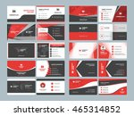 business card templates.... | Shutterstock .eps vector #465314852