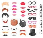 watercolor props set. vector... | Shutterstock .eps vector #465316106