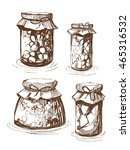 jars of canned vegetables.... | Shutterstock .eps vector #465316532