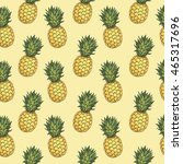 seamless pattern with hand... | Shutterstock .eps vector #465317696