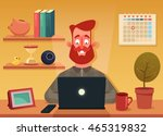 funny cartoon character.... | Shutterstock .eps vector #465319832