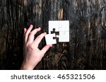 hand with missing piece of... | Shutterstock . vector #465321506