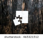 Four Pieces Of White Jigsaw On...