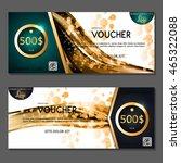 gift voucher. vector ... | Shutterstock .eps vector #465322088