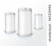 set of round tins  packaging on ... | Shutterstock .eps vector #465325496