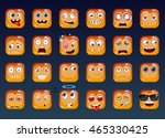 the set of cartoon funny... | Shutterstock .eps vector #465330425
