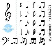 set of classic black music... | Shutterstock . vector #465331376