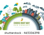 eco friendly  choose right way... | Shutterstock .eps vector #465336398