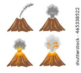 different stages of volcano.... | Shutterstock .eps vector #465338522