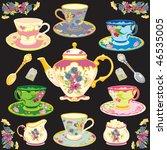 fancy victorian style tea...   Shutterstock .eps vector #46535005