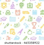 school background pattern with... | Shutterstock .eps vector #465358922