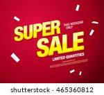 super sale banner. sale poster | Shutterstock .eps vector #465360812