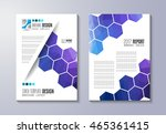 brochure template  flyer design ... | Shutterstock .eps vector #465361415
