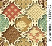 seamless patchwork pattern from ... | Shutterstock .eps vector #465364472