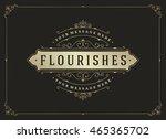 vintage ornament greeting card... | Shutterstock .eps vector #465365702