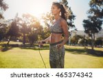 outdoor shot of determined... | Shutterstock . vector #465374342