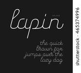 cute script font in lowercase ... | Shutterstock .eps vector #465374996