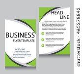 vector brochure flyer design... | Shutterstock .eps vector #465378842