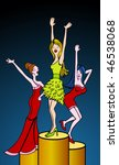 cartoon of women dancing... | Shutterstock .eps vector #46538068