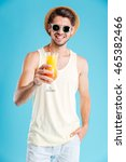 cheerful handsome young man in... | Shutterstock . vector #465382466