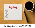 print blank list  business... | Shutterstock . vector #465390278