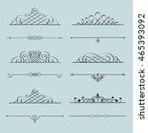 stylish calligraphic design... | Shutterstock .eps vector #465393092
