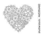 zentangle heart  zentangle...   Shutterstock .eps vector #465396482