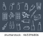 freehand drawing of drug forms... | Shutterstock .eps vector #465396806