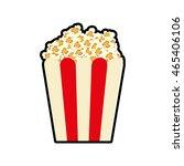 pop corn fast food cinema icon. ... | Shutterstock .eps vector #465406106