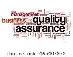 quality assurance word cloud | Shutterstock . vector #465407372