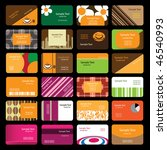 24 colorful business cards | Shutterstock .eps vector #46540993