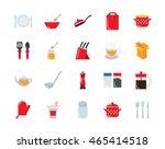 kitchenware and utensil... | Shutterstock .eps vector #465414518