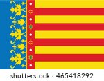vector flag of valencian... | Shutterstock .eps vector #465418292