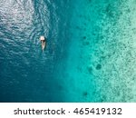 beautiful turquoise ocean water ... | Shutterstock . vector #465419132