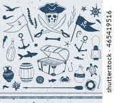 pirate theme nautical... | Shutterstock .eps vector #465419516