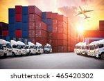 industrial container cargo... | Shutterstock . vector #465420302