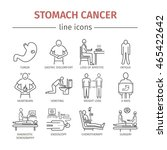 stomach cancer line icons.... | Shutterstock .eps vector #465422642