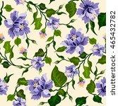 vector floral watercolor... | Shutterstock .eps vector #465432782