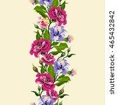 vector floral watercolor... | Shutterstock .eps vector #465432842