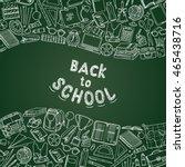 back to school background ...   Shutterstock .eps vector #465438716
