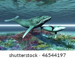 whale song   humpback whale...   Shutterstock . vector #46544197