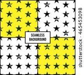 set of four seamless grunge... | Shutterstock .eps vector #465453098