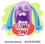 3d illustration sad character... | Shutterstock . vector #465454382