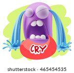 3d illustration sad character... | Shutterstock . vector #465454535