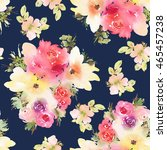 seamless pattern with flowers... | Shutterstock . vector #465457238