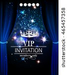 vip invitation card with... | Shutterstock .eps vector #465457358