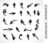 hand drawn arrows  vector set | Shutterstock .eps vector #465460415